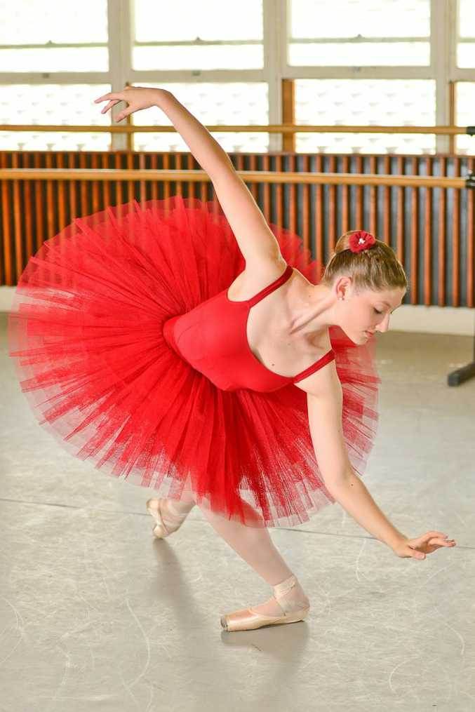 Tahlia Downey, 16, will perform in the Magic Toyshop in January. The ballerina was one of two Queenslanders recently awarded the solo seal award for completing the examinations for the Royal Academy of Dancing at a distinction or higher.