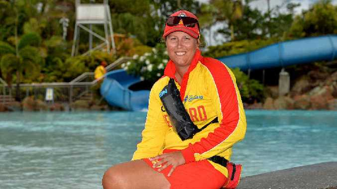 Bluewater Lagoon lifeguard supervisor Hannah Ridland loves working outdoors in summer. She watches over swimmers at the facility.