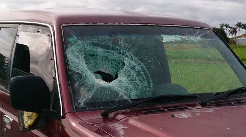 The vehicle that was damaged.