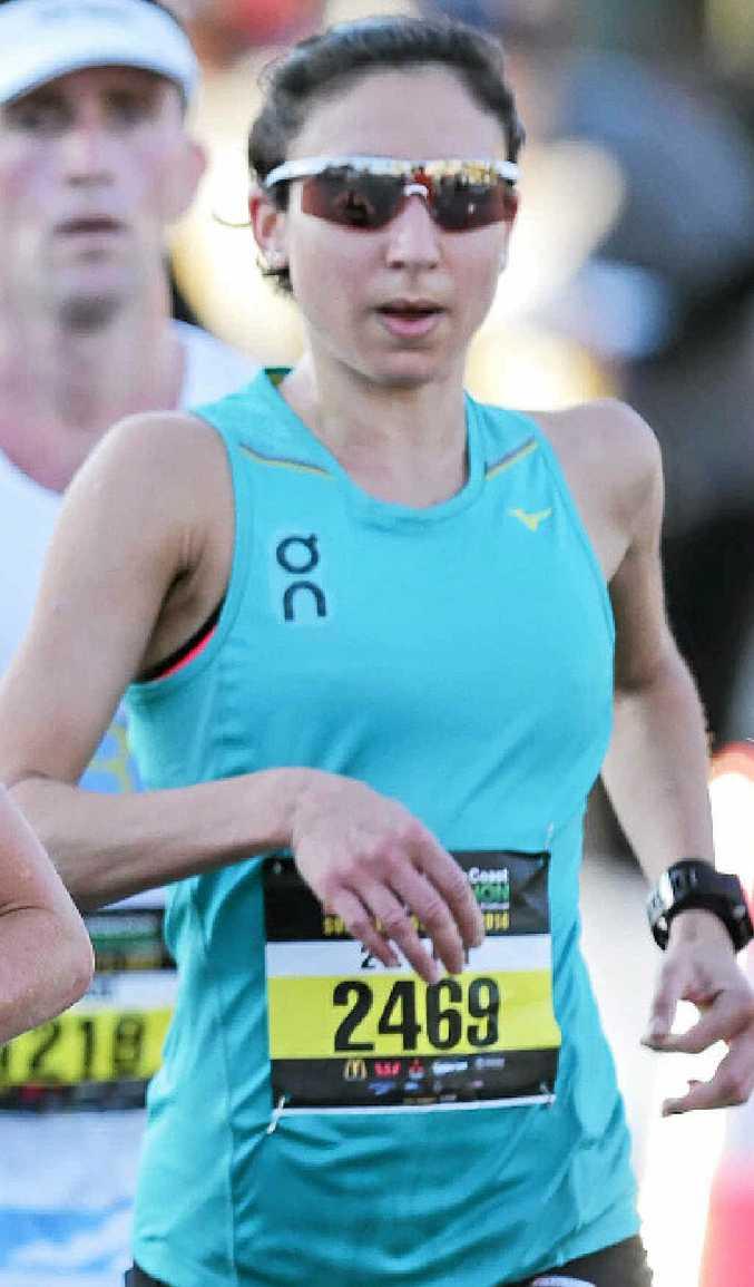 Melanie Panayiotou at the Sunshine Coast Marathon.