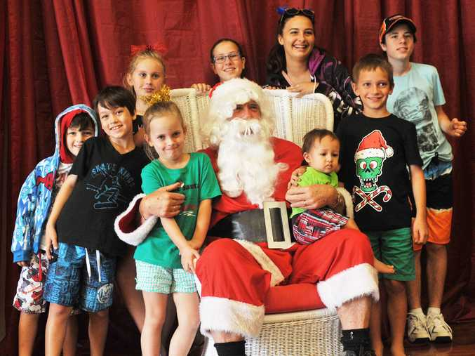 The Cormack, Arilla and Trustum kids meet up with that jolly old gent from the North Pole at the Coffs Harbour Special Children's Christmas party.