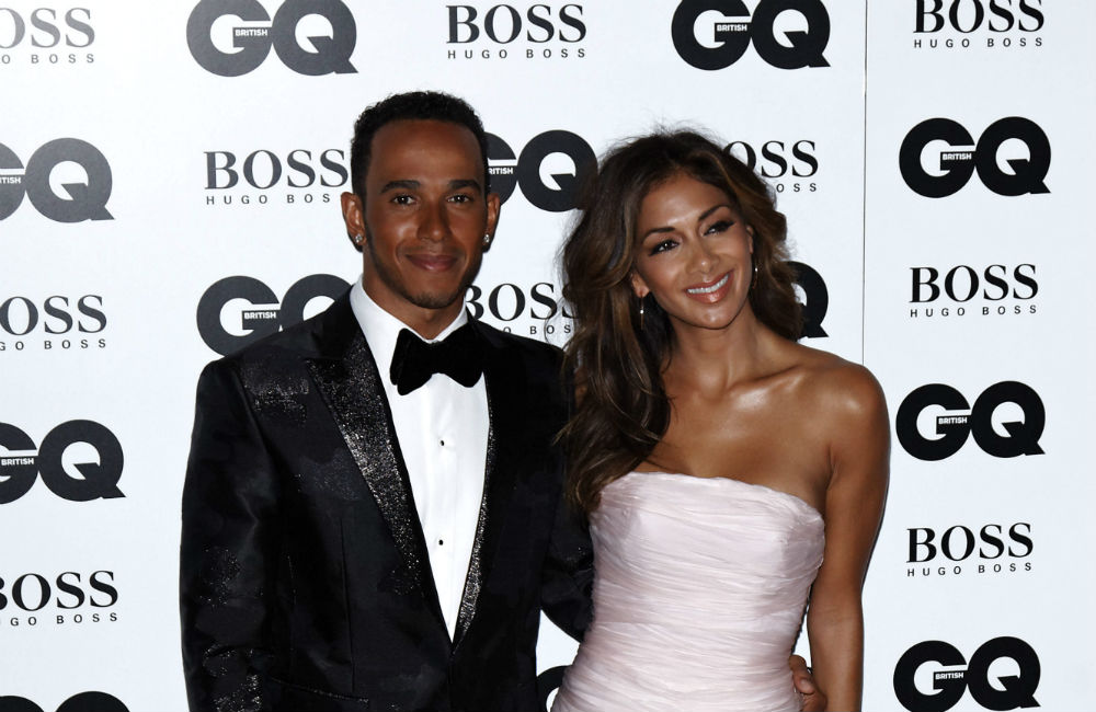 Lewis Hamilton and Nicole Scherzinger.