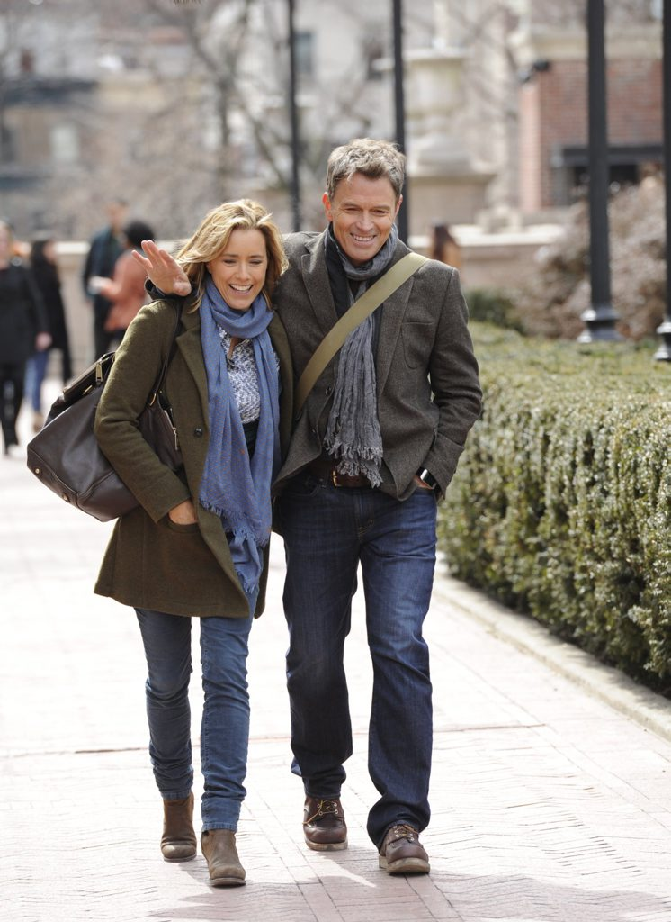 Tea Leoni and Tim Daly in a scene from the TV series Madam Secretary. Supplied by Network Ten.