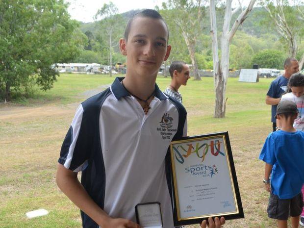 Somerset 2013 Sports Award winner Michael Kakakios.