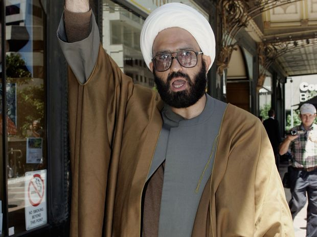 Man Monis, also known as Sheik Haron leaves the Downing Centre Local Court in central Sydney in 2010. He   held hostages at the Lindt Chocolate Cafe in Sydney's Martin Place. He and two hostages were killed on Tuesday.