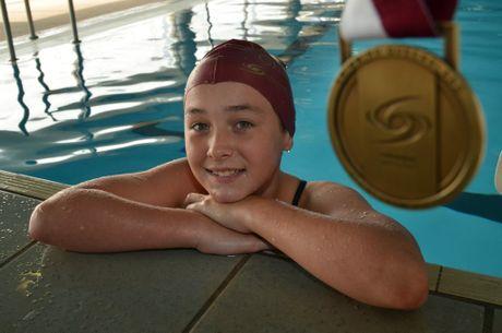 Nanango Amateur Swimming Club's Shikira-Lee Matheson will compete all week at the State Championships.
