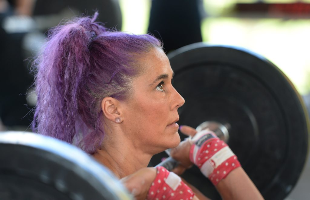 Amanda Allen competing in the Elite Fitness League Crossfit competition on the weekend.Photo: Chris Ison / The Morning Bulletin