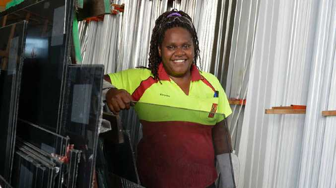 Glazier Khrysilla Backo from Porters has won the Sarina Russo Apprenticeships Award for Construction Indigenous Person of the Year 2014.
