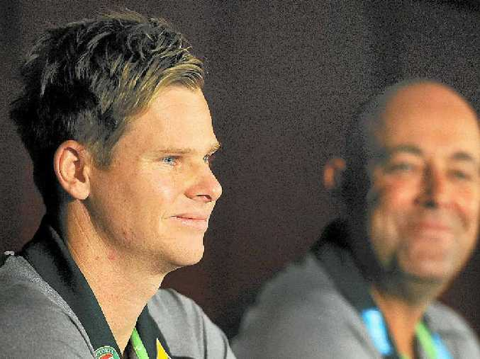 Steve Smith speaks to the media during a press conference at the Gabba.