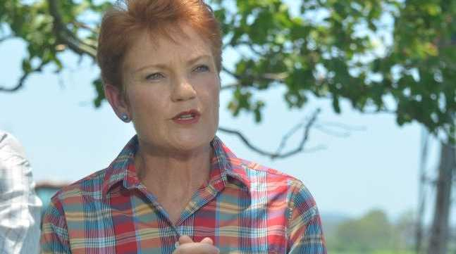 Pauline Hanson announces her candidacy for the seat of Lockyer at Crowley Vale today.