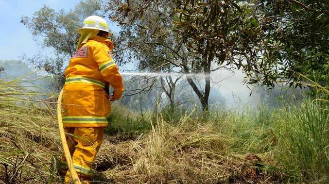 Rural fire service at a grass fire at Bilambil Photo: John Gass / Tweed Daily News