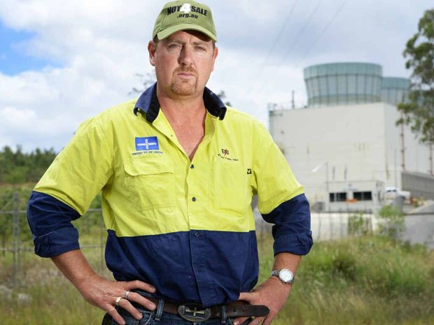 STANDING FIRM: ETU state organiser Stuart Traill is backing the workers at Energex.