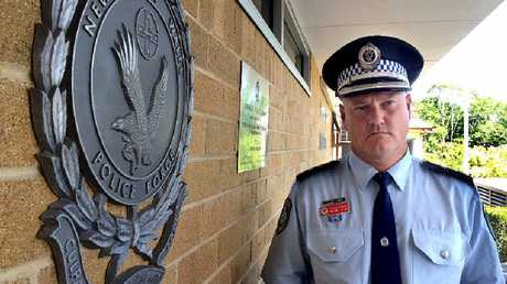SUCCESS: Detective Inspector Cameron Lindsay, Richmond Local Area Command, at a media conference yesterday about the morning's raids.