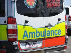 Ambulance rescue youth struggling from heat exhaustion