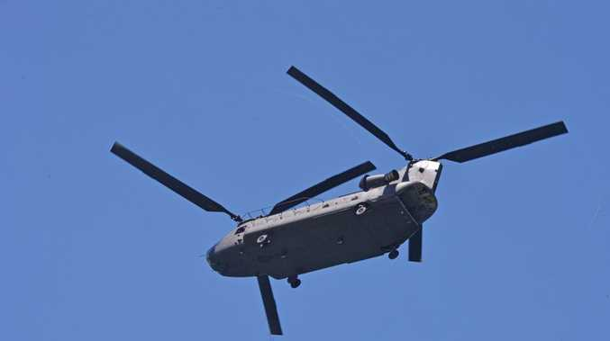 Chinook helicopter. Photo: John McCutcheon / Sunshine Coast Daily
