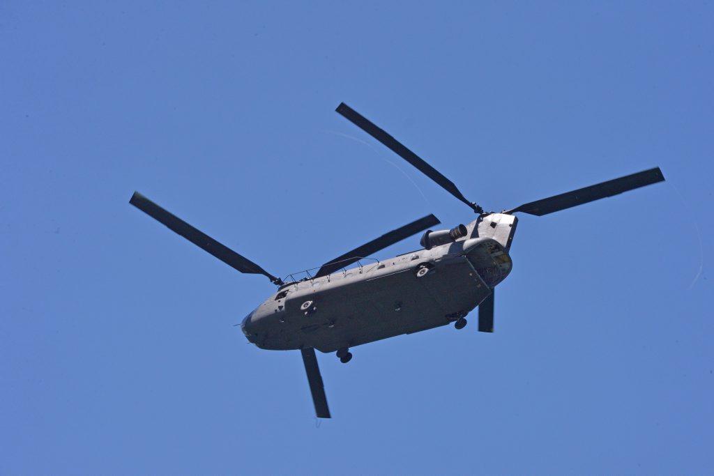 Chinook helicopter. Photo: John McCutcheon / Sunshine Coast Daily