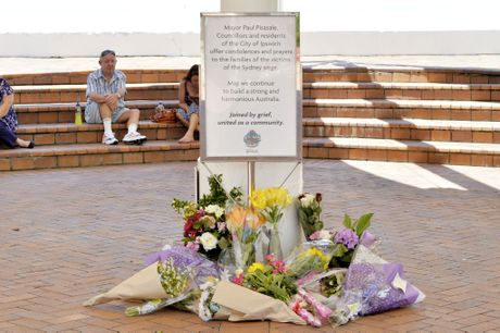 Vigil held for siege victims in Ipswich city centre. Photo Inga Williams / The Queensland Times