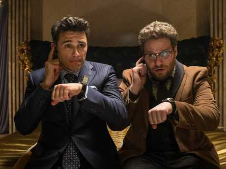 James Franco, left, and Seth Rogen in The Interview.