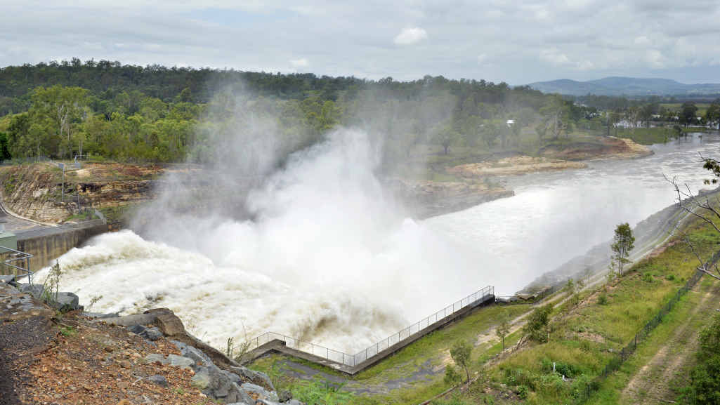 ALMOST FULL: Wivenhoe Dam is almost 80% full as other dams in the region reach capacity.