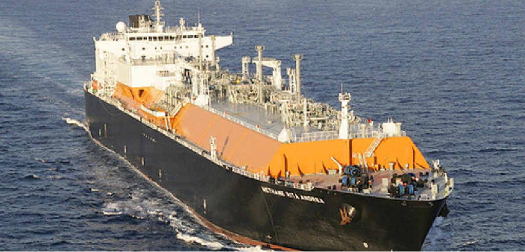 ON TARGET: LNG ship Methane Rita Andrea.