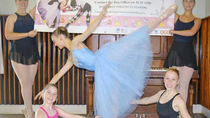 DANCE STARS: Magic Toyshop dancers (top left) Reanne Keogh, 14, (centre) Sarah Ross, 17, (bottom left) Katrina Perkins, 11, (far right) Ksenia Metilkova, 17, and (bottom right) Kristen Axford, 14.