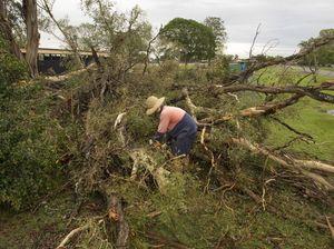 Driver escapes fallen powerline electrocution in storm