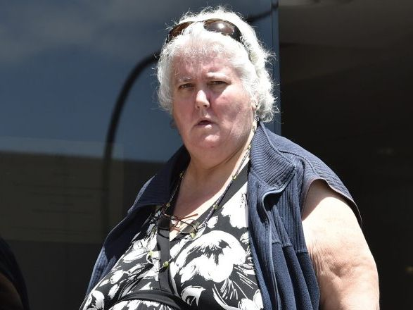SOLD A PUP: Julie O'Neil leaves Toowoomba Magistrates Court after being fined for failing to provide proper care to a puppy she had for sale.