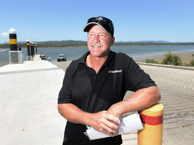 Clive King (President of the CQ Boat Ramp Action Group) welcomes the two new lanes to be added to the Coorooman Creek boat ramp. Photo: Chris Ison / The Morning Bulletin