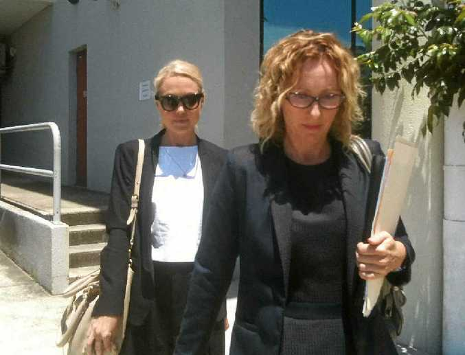 AFTER THE HEARING: Solicitor Chelsea Emery and Ms Kenny leave court yesterday.
