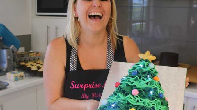 Heidi Mastroianni, of Surprise Me by Heidi, created a 7kg Christmas masterpiece complete with lights.