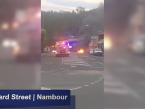 Car fire in Nambour