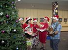 Towoomba Hospital pastoral care team and volunteers including (from left) Huue Sin Chong, Tammy and Luke Conway, Melisa Avery, Sharon Baker and Philip Gilbert spread Christmas cheer by singing carols through the various wards of the hospital.