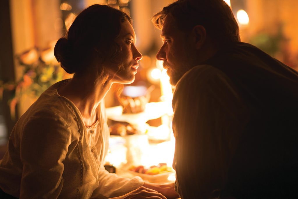 Olga Kurylenko and Russell Crowe in The Water Diviner.