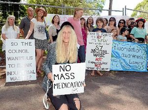 Anti-fluoride protesters hold rally at Clunes dosing plant