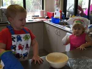 Children take part in making festive goodies