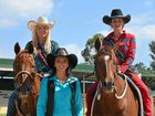 Miss Rodeo Queen Katherine Tash MacQueen, 2014 Miss Rodeo Australia Mallory Doyle and 2013 Miss Rodeo Warwick and now Miss Rodeo Australia Danika Boland.