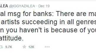 One of Iggy Azalea's Tweets to Azaelia Banks