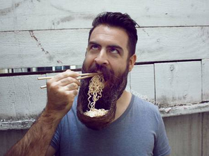 One man's amazing beard sculptures