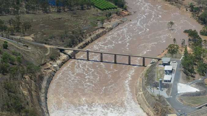 SPILL: Awoonga Dam during the January 2013 floods