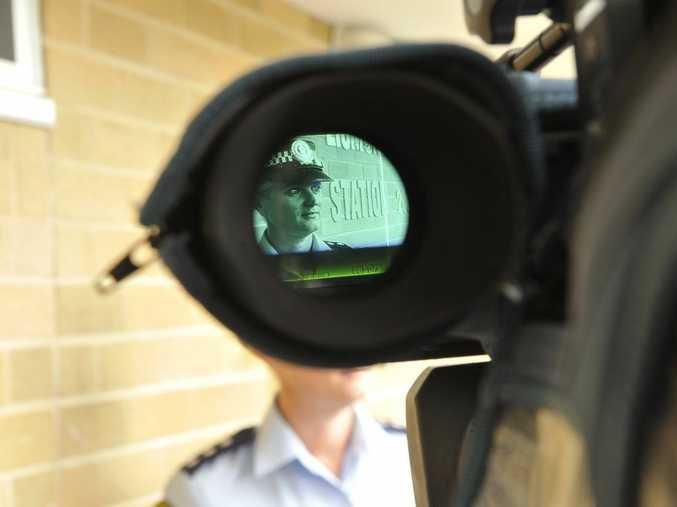 Acting Detective Inspector Bernadette Ingram briefs the media on an attempted murder that took place at 37 Uralba Street, Lismore.