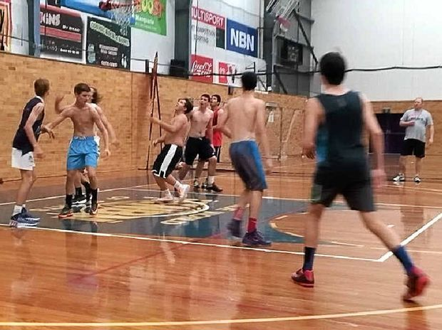 TALENT SPOTTING: The under-18 Northern Allstars men's team hits the court in the first selection trial.