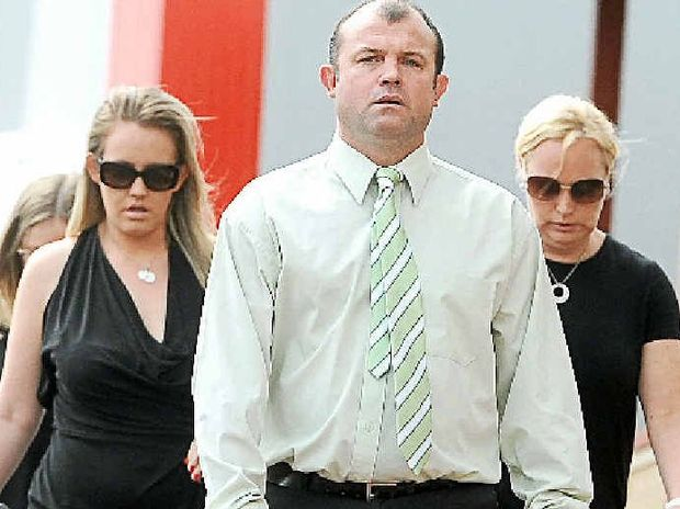 FALL FROM GRACE: Craig Field, appearing in Lismore Supreme Court for a one-hit punch that killed Tweed cattle farmer Kelvin Kane.