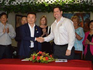 Handshake seals deal