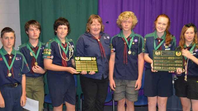 TOP EFFORT: Banksia Scouts Conrad Lamb, Christian Trinder, Daniel Dale, Scout Leader Sonia Andrews, Daniel Andrews, Georgina Duggan and Rianne Boyce.