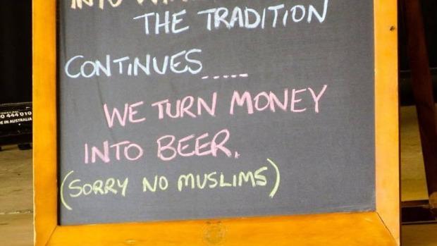 A Longreach restaurant placed a sign reading
