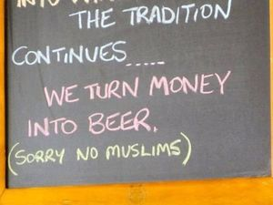 'Sorry No Muslims' sign sparks abusive calls to restaurant