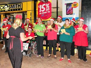 Mary St bursts into Christmas song
