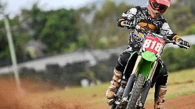 TALENT TO BURN: Valdora's Kye Thomson, 16, has been winning state and national championships in dirt-track motorcycle racing.
