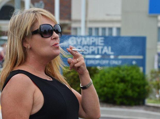 Smoking outside Gympie Public Hospital. Photo: Greg Miller / Gympie Times