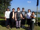 Jenna Hartland (third from left) and Abigail Stewart (third from right) in Chiang Rai pictured with Ursuline nuns, teachers and a student. Photo Contributed